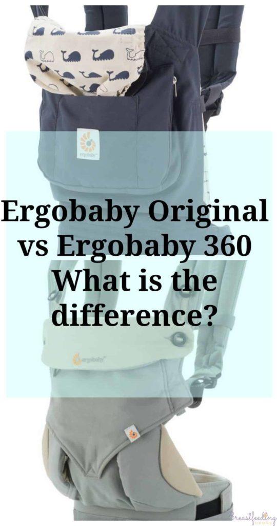 Ergobaby Original Vs Ergobaby 360 Breastfeeding Needs