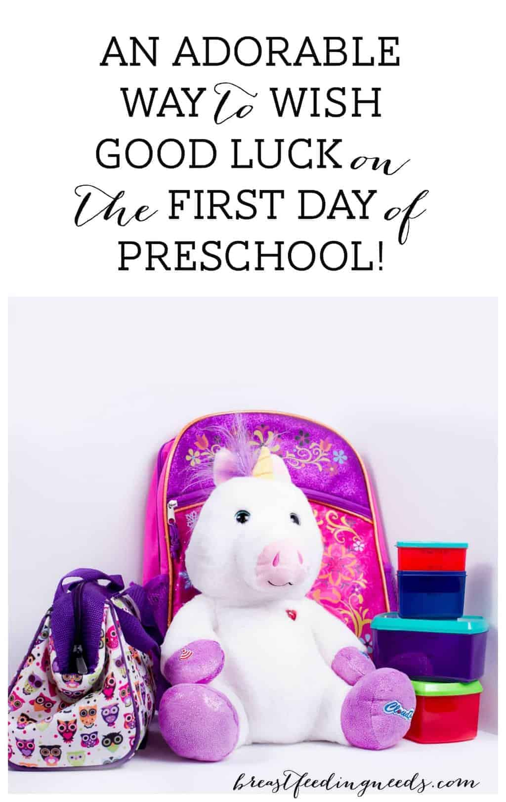My First Baby is Starting Preschool! An Adorable Way to ...