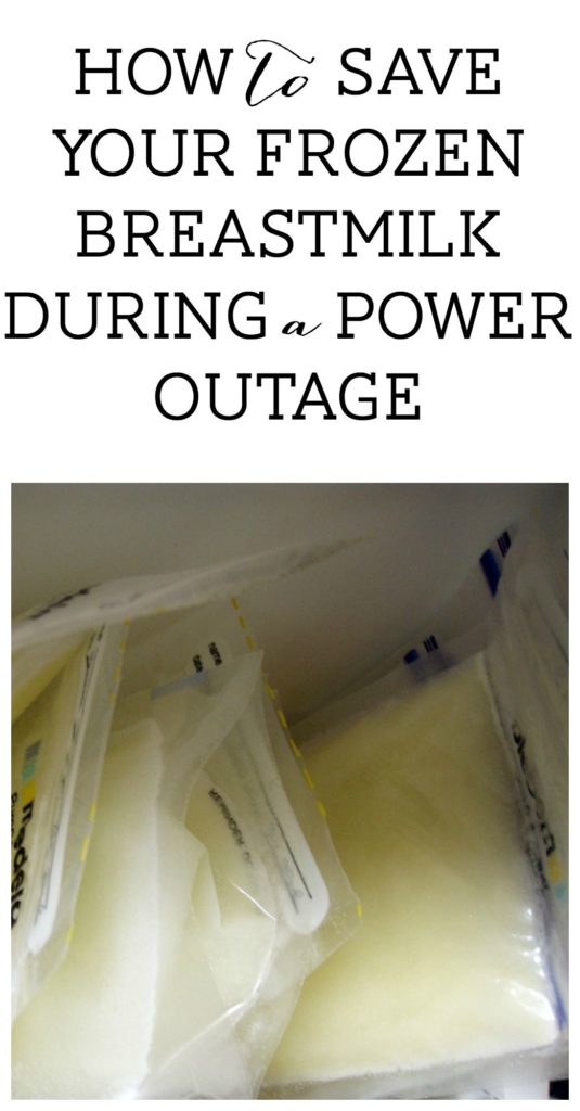 frozen breastmilk power outage