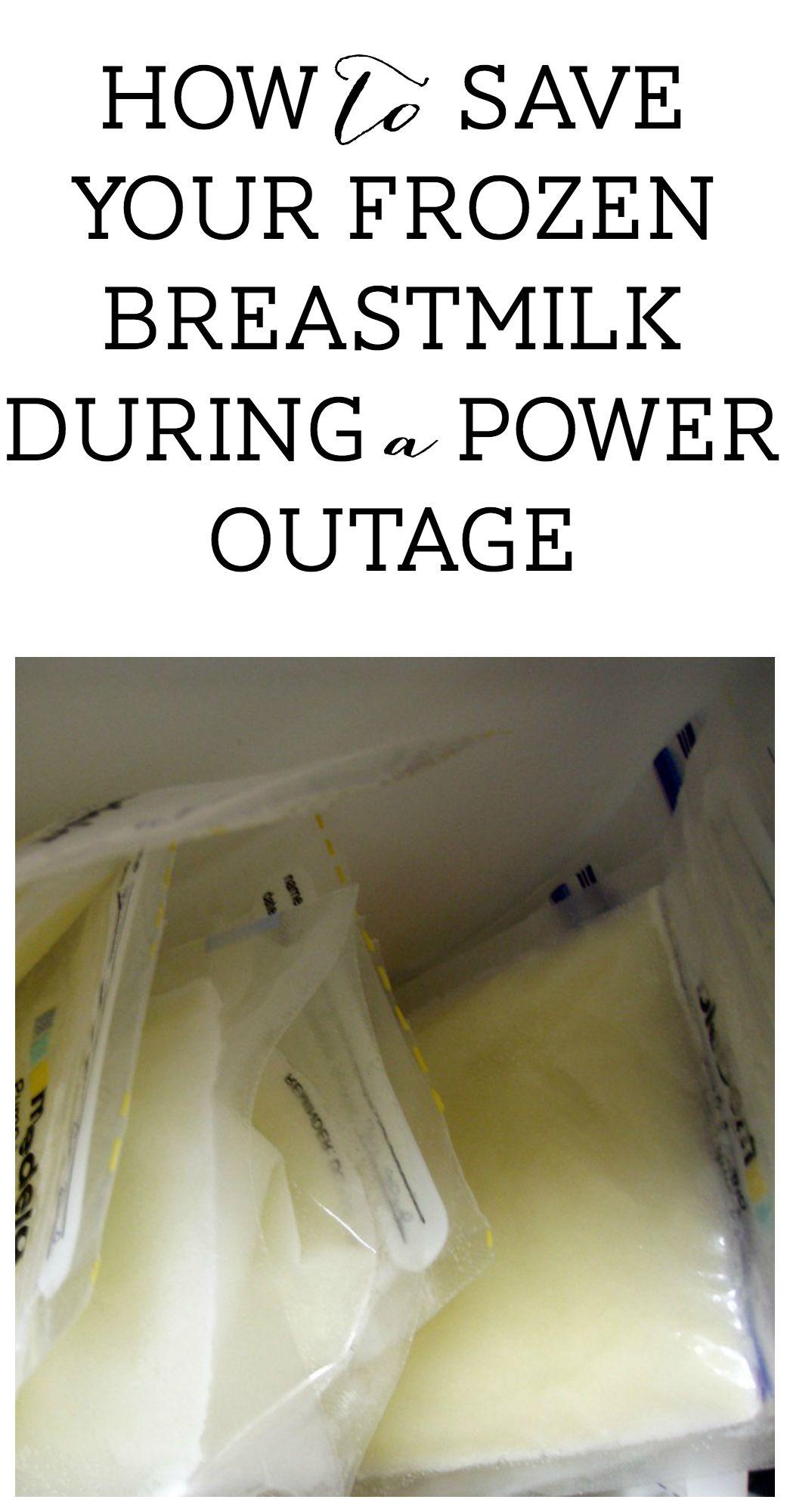frozen breastmilk power outage
