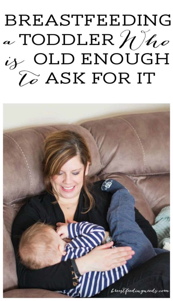 breastfeeding a toddler old enough to ask for it
