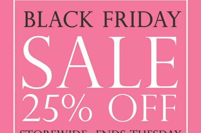 Black Friday Sale Throughout the Weekend at Figure 8 Maternity!
