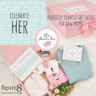 Her Shower Box, Maternity and Nursing Baby Shower Gift from Figure 8 Maternity