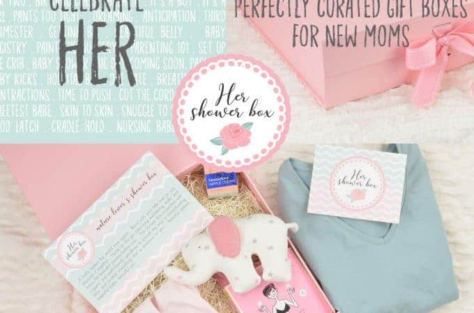Her Shower Box from Figure 8 Maternity, Gift Boxes for New Moms