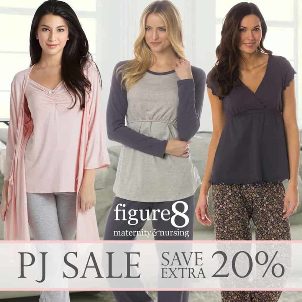 PJ Sale 20% off at Figure 8 Maternity