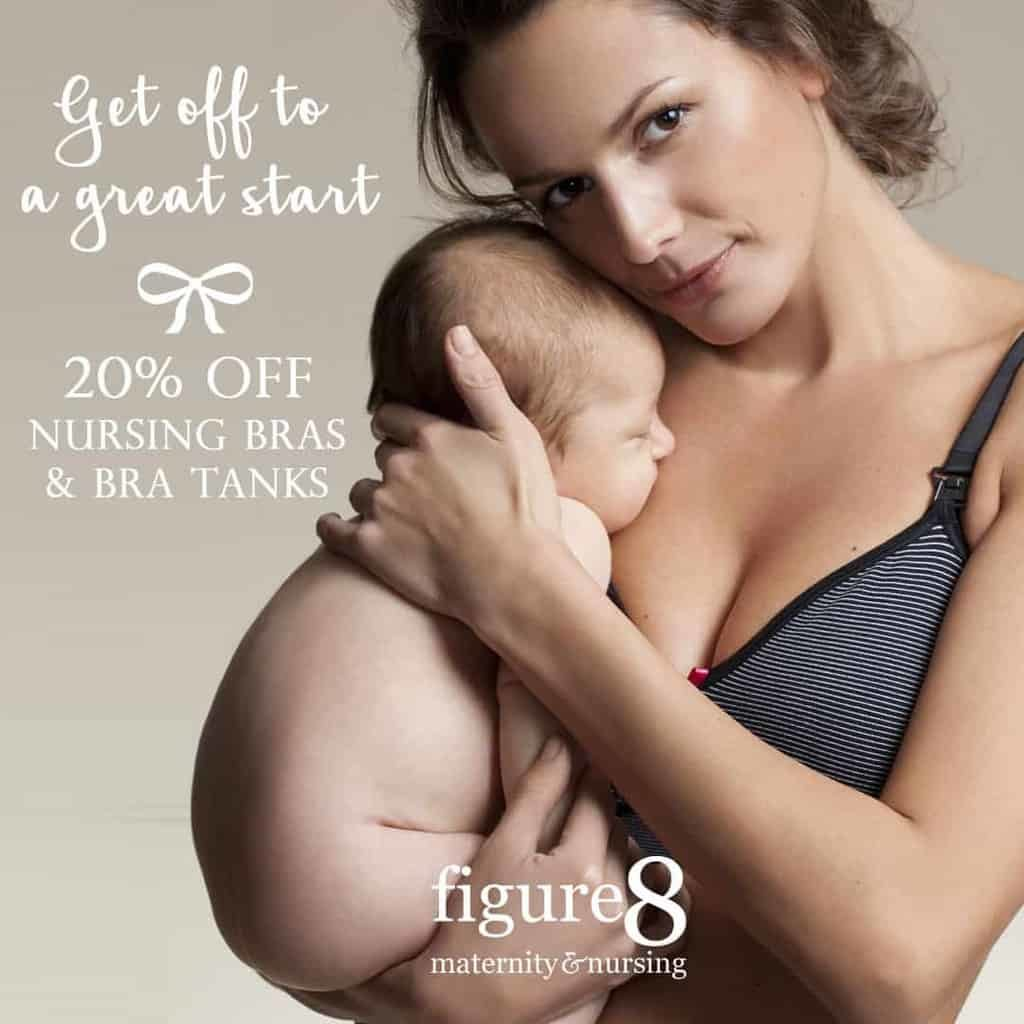 20% off Nursing Bras at Figure 8 Maternity
