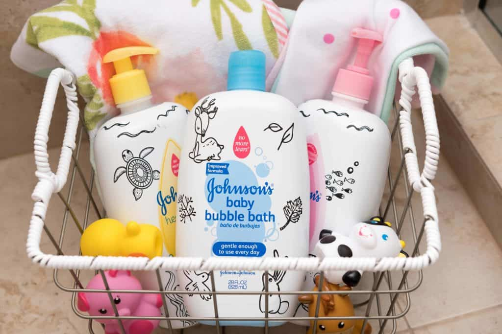 Create a moveable bath caddy - Breastfeeding Needs