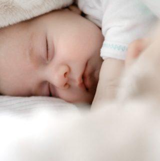 cluster feeding sleeping baby