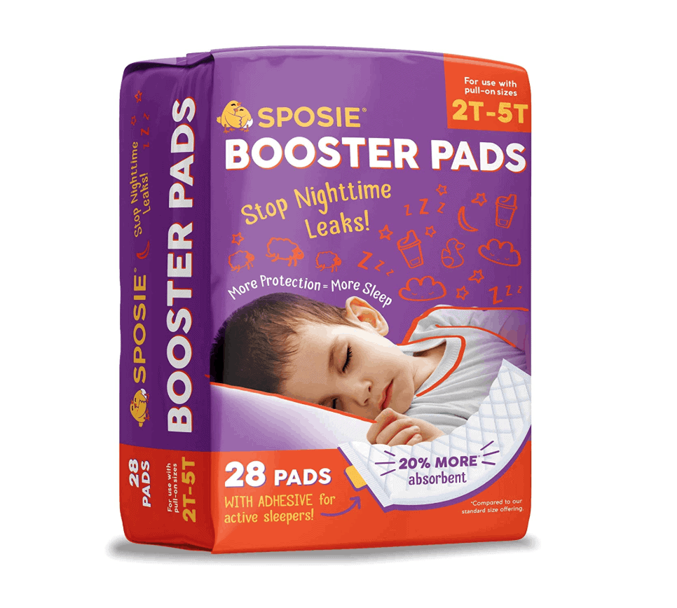 Diaper booster pad to prevent nighttime diaper leaks
